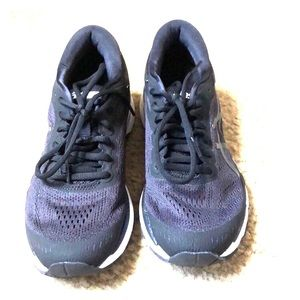ASICS Black Geo Kayano Running Shoes 6.5 EUC